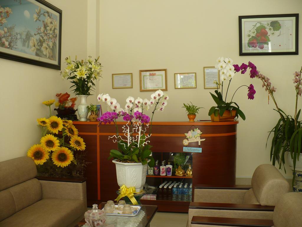 Phòng khách của villa khanh lam