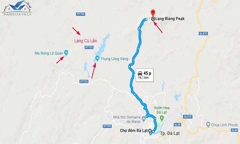 Bản đồ du lịch Lang Biang